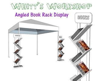 Book display etsy angled book rack display pdf file woodworking blueprint malvernweather Choice Image