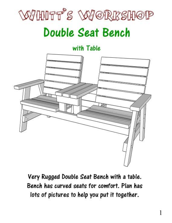 Wondrous Double Seat Bench With Table Creativecarmelina Interior Chair Design Creativecarmelinacom