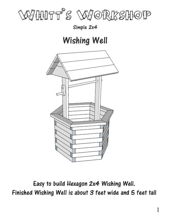 Hexagon 2x4 wishing well wood plans pdf file blueprint malvernweather Choice Image