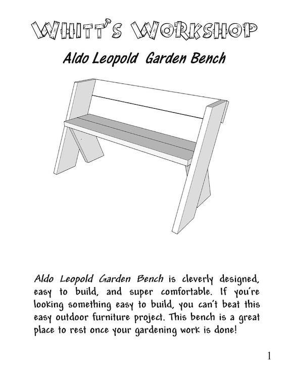 Amazing Aldo Leopold Garden Bench Pabps2019 Chair Design Images Pabps2019Com