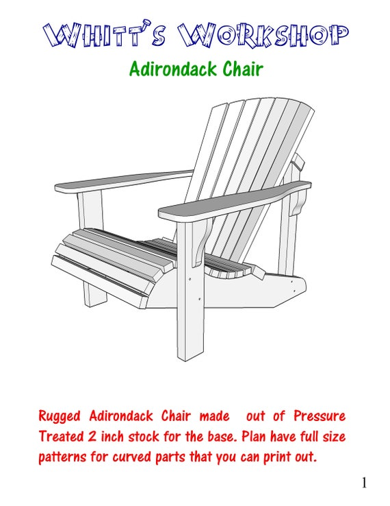 adirondack chair wood plans pdf files blueprint