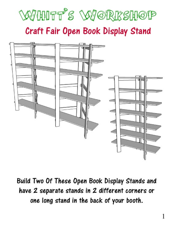 Open Book Display Stands PDF File Craft Fair Etsy Amazing Craft Fair Display Stands