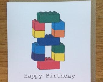 Lego Geburtstagskarte Etsy