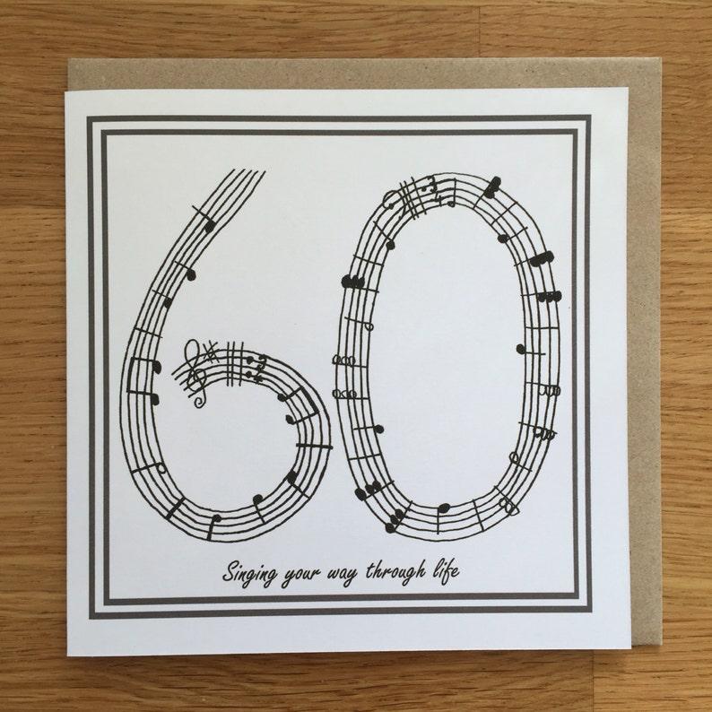 60th Birthday Card Music Singing Sixty