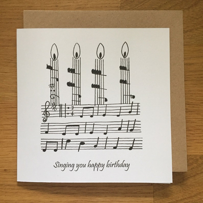 Birthday Card Happy Birthday Card Music Singing Choir