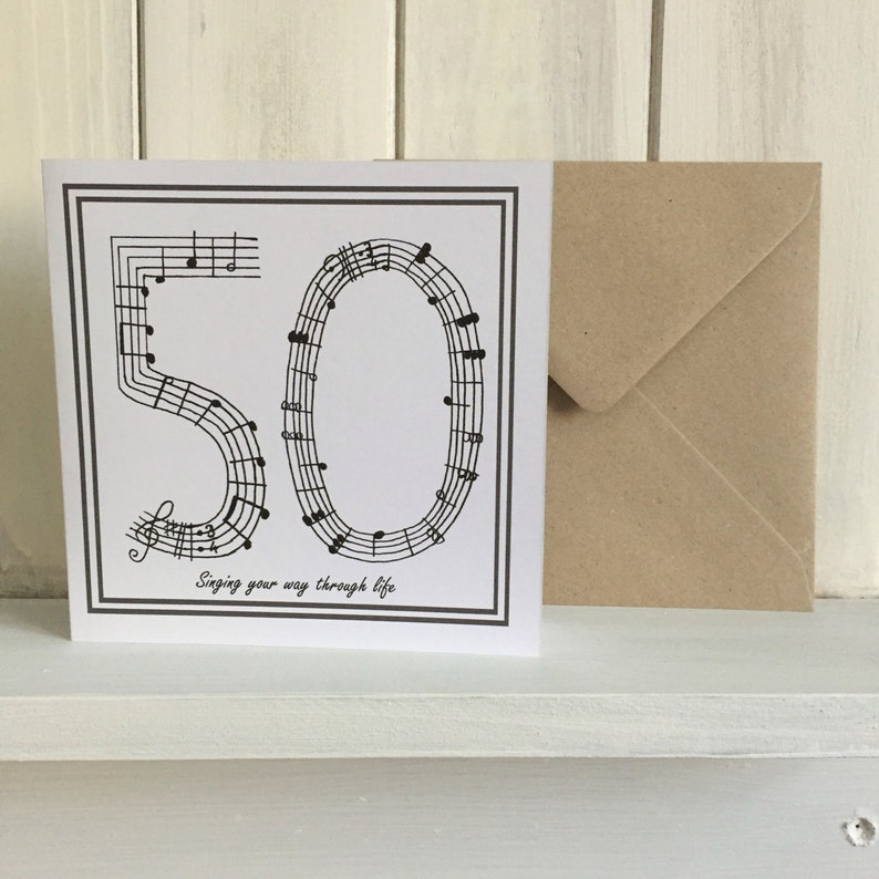 50th Birthday Card Music Singing Fithy