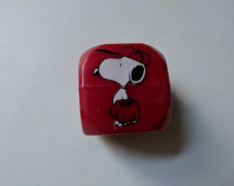 1971 SNOOPY PENCIL SHARPENER Cube Empire Pencil Co No. 327  New   Rare/Vintage Schulz United Feature Syndicate