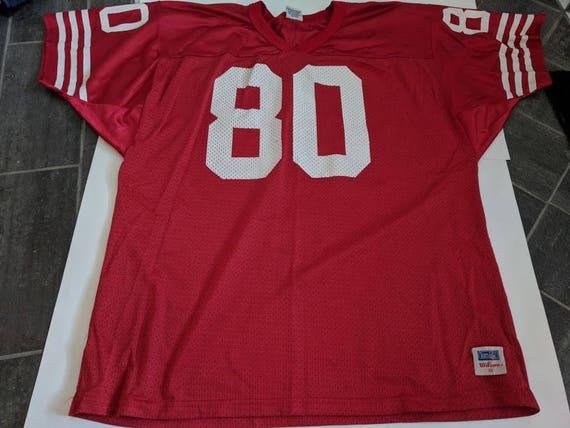 JERRY RICE San Francisco 49ers WILSON Vintage Football Jersey 451ca73ef