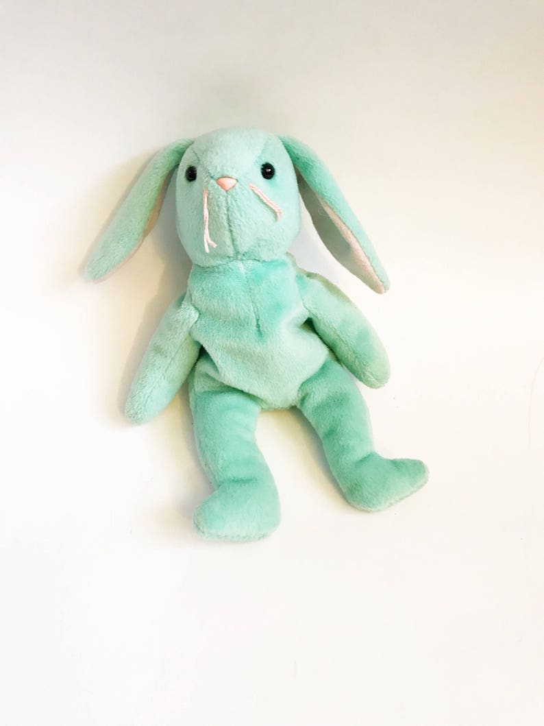 24633f6946a 90s Hippity Bunny TY Beanie Babies 1996 Collection Rabbit No