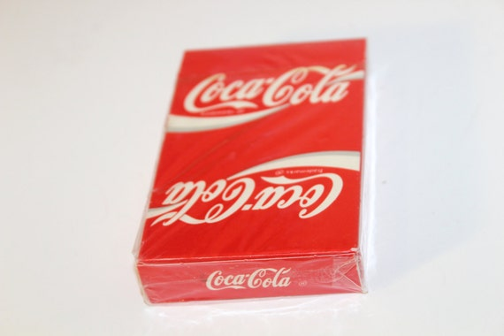 Sealed New Old Stock Coca Cola Playing Cards Poker Size US Playing Coke