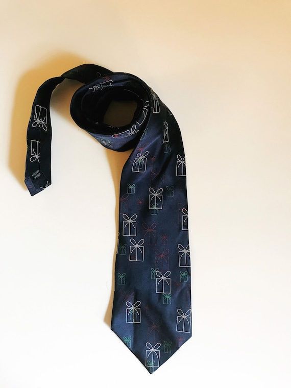 Vintage Christmas Necktie Presents Novelty Tie FN… - image 5