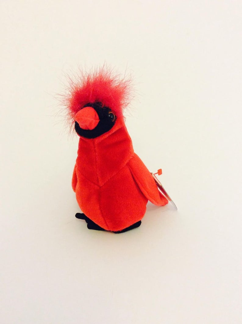 7ad7ecaf577 Rare Mac Red TY Beanie Baby Bird with 4 Errors Original