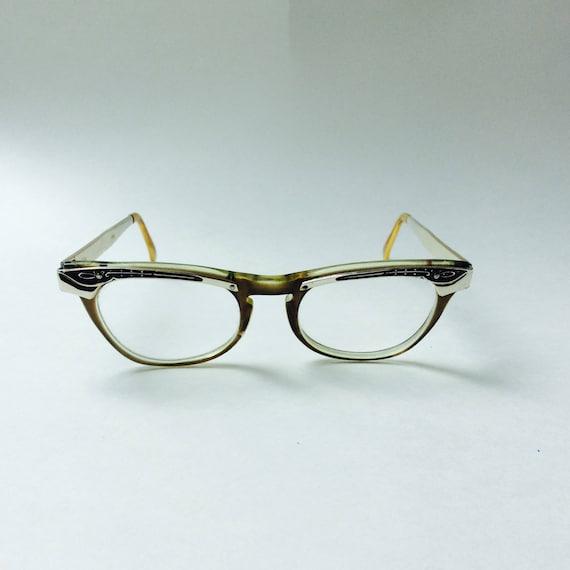 612cdff1bd Vintage 1960s Cat Eye Glasses Eyeglasses Vista Librarian