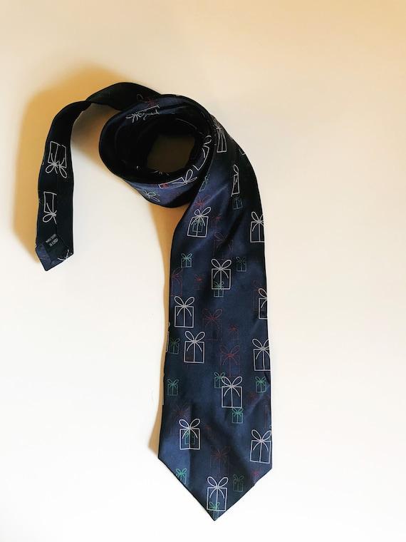 Vintage Christmas Necktie Presents Novelty Tie FN… - image 2