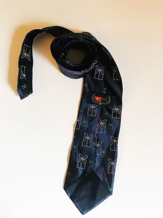 Vintage Christmas Necktie Presents Novelty Tie FN… - image 6