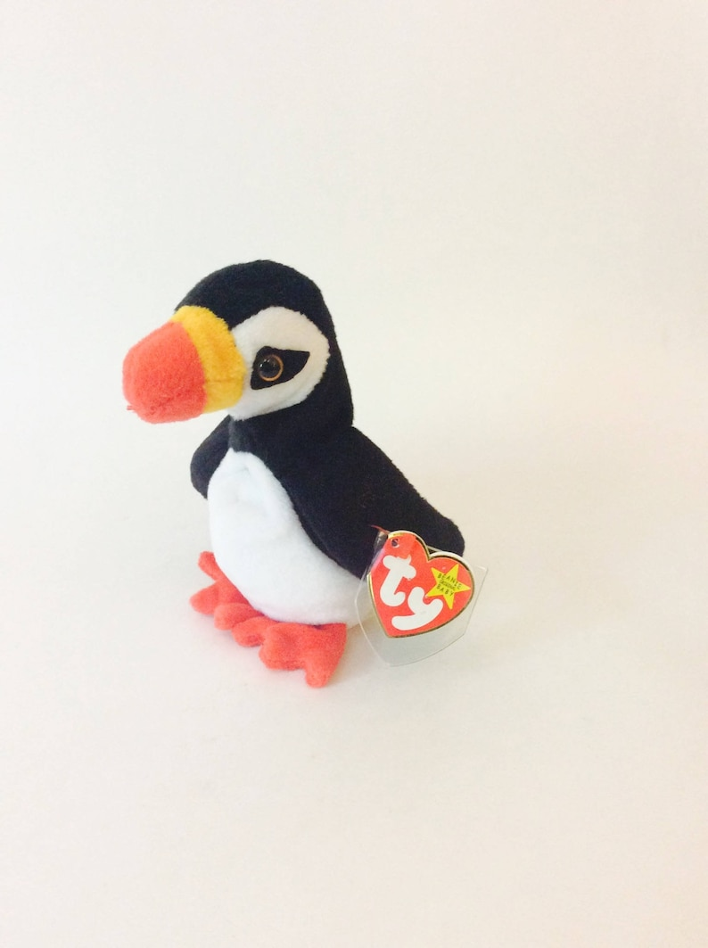 Puffer Beanie Baby Penguin TY 1997 Beanie Babies Collection  b2f4efb0862