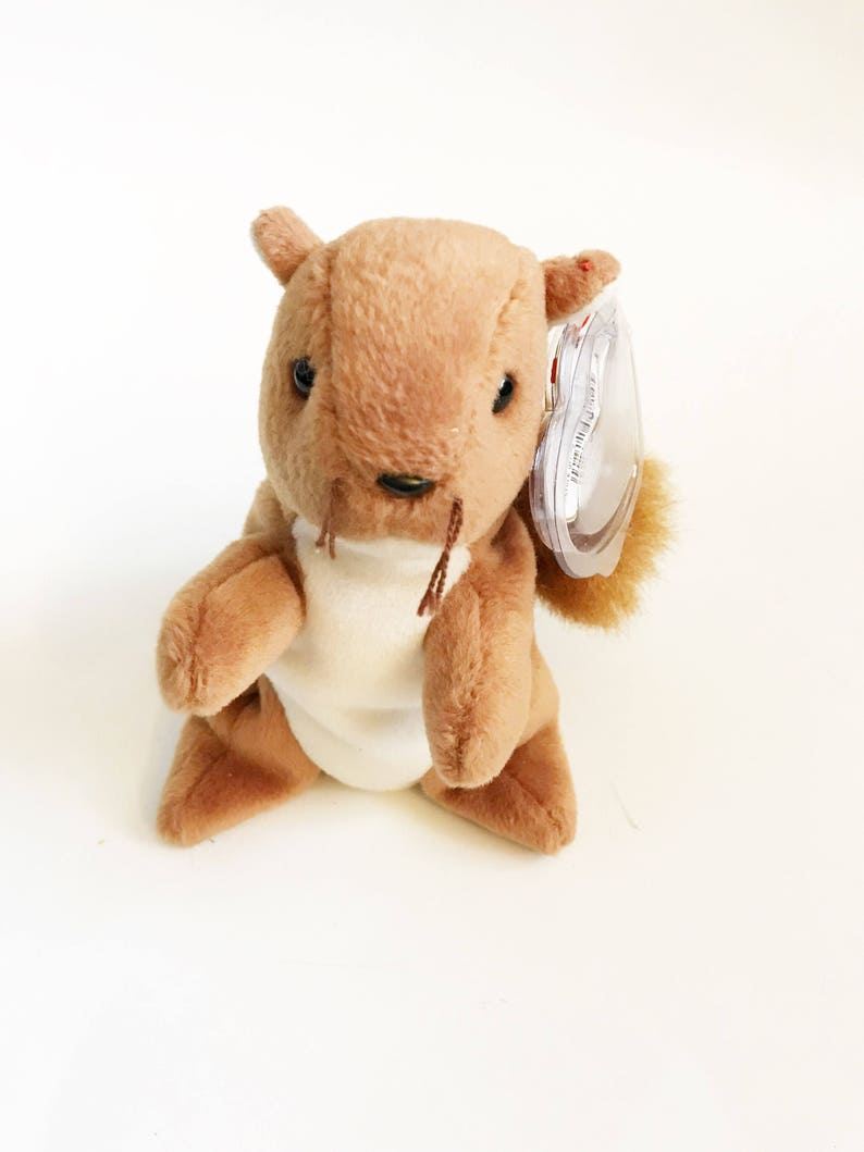 48a119d7ce7 Ty Original Nuts The Squirrel Beanie Baby Stuffed Squirrels