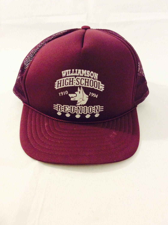 Vintage Hipster Trucker Hat Williamson High School 1994  c01c9c09a0c6