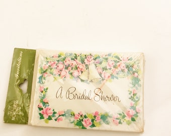 Vintage Norcross Bridal Shower Invitations Pack of 10 Invitation Cards & 10 Envelopes Bride-to-Be Shower Floral Invites New Old Stock Flower