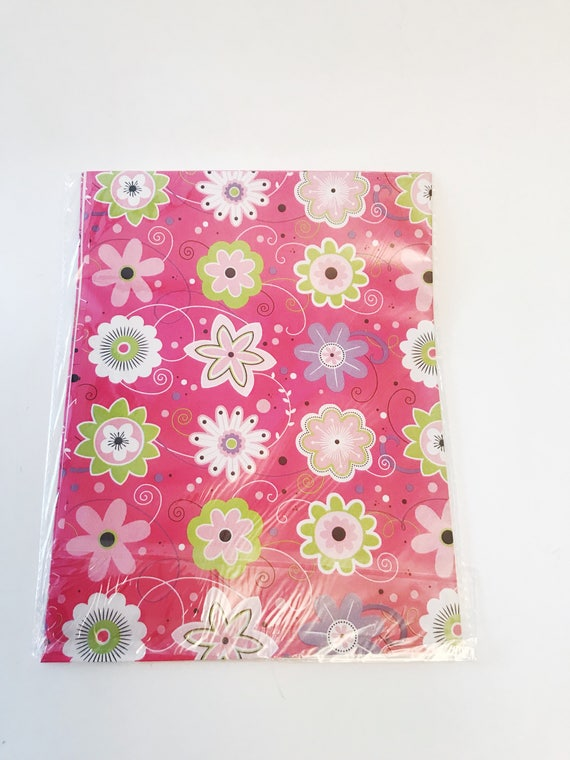Floral pink gift wrap american greetings gift wrap 1 sheet etsy image 0 m4hsunfo