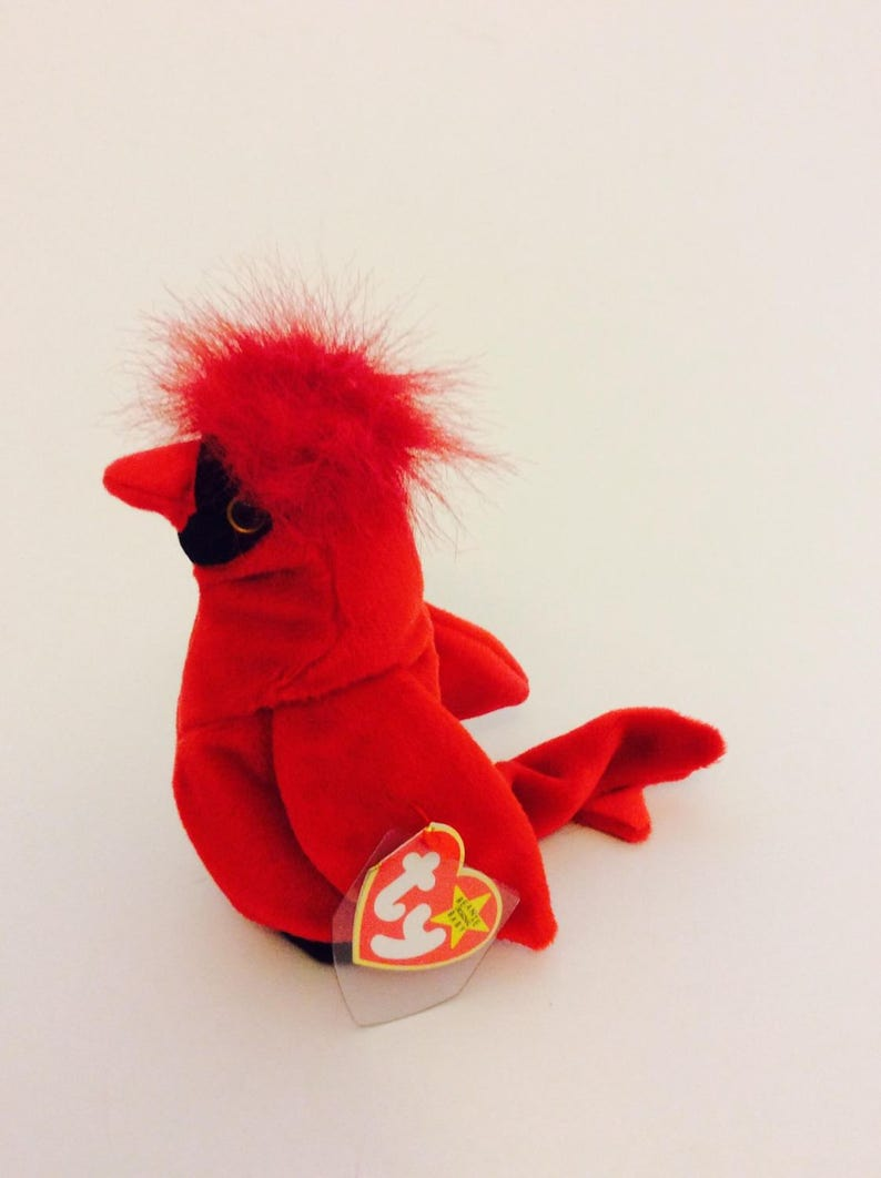 dc74281bcbc Rare Mac Red TY Beanie Baby Bird with 4 Errors Original