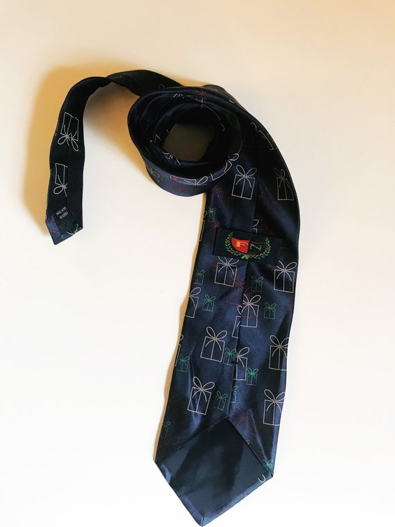 Vintage Christmas Necktie Presents Novelty Tie FN… - image 4