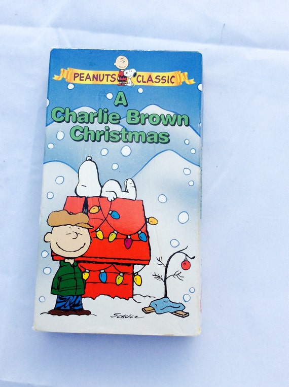 A Charlie Brown Christmas Vhs.Vintage Peanuts Classic A Charlie Brown Christmas Video Cartoon Movies Collectible Charlie Brown Vhs Snoopy