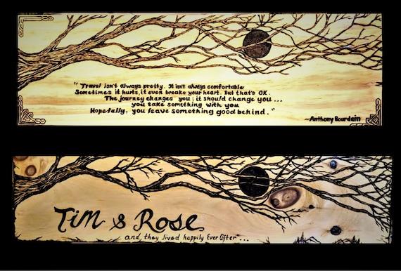 Romantic Gift Ideas Wood Anniversary Gift 5 Year Etsy