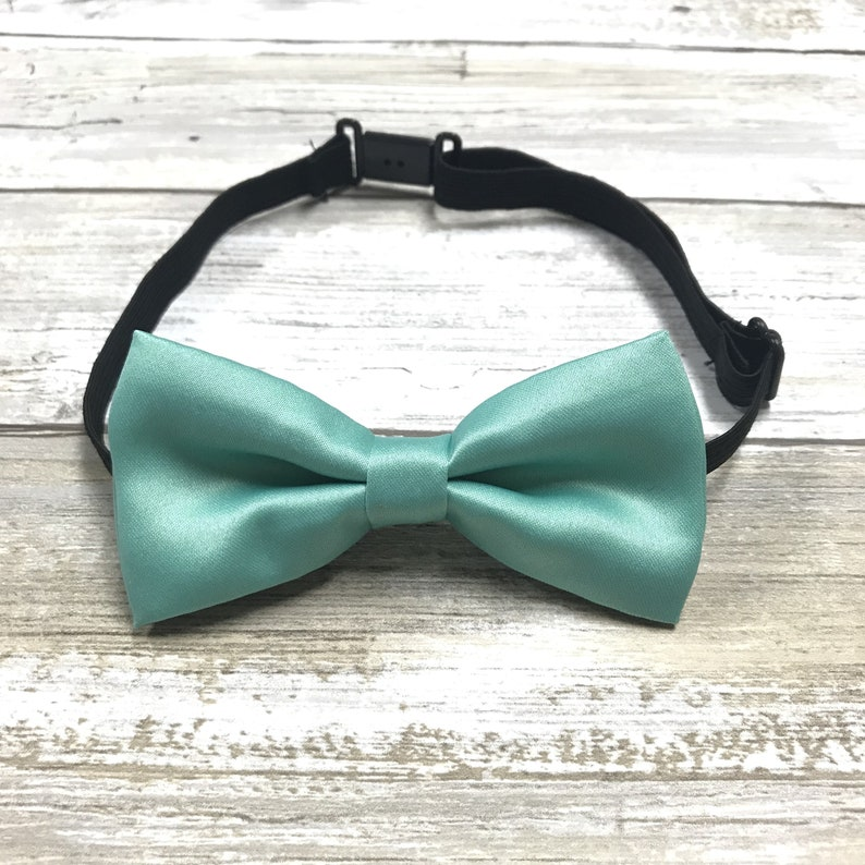 Pre-Tied Bow fits ages 1-8 Boys Girls and Toddler Sized Bow Tie Adjustable Kids Bow Tie Solid Teal Blue