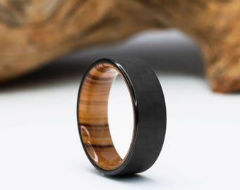 Wood Wedding Bands.Wood Wedding Band Etsy
