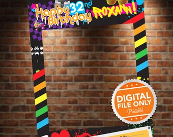 80's Theme Photo Booth. Party Prop Frame. Digital File Only