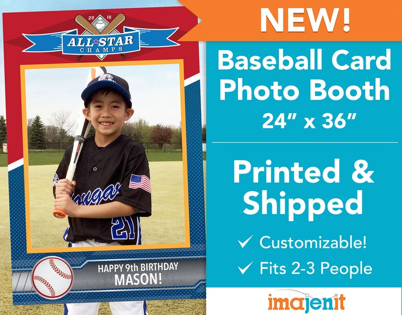 Printed And Shipped Baseball Card Theme Photo Booth Coroplast Photo Booth
