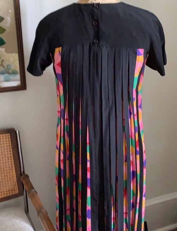Vintage 1980s Albert Nipon Silk Dress size 4 - image 4