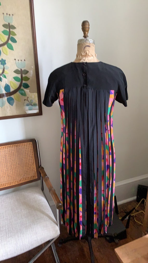 Vintage 1980s Albert Nipon Silk Dress size 4 - image 6