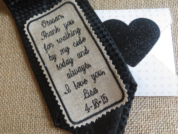 Good Wedding Gifts For Brother: Items Similar To Custom Embroidered Linen Wedding Tie