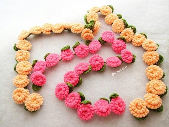 Hängeblüten Häkeln Blumen Häkeln Häkeln Blumen Rose Rose Etsy