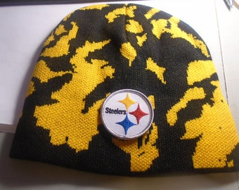 98389fef6 Pittsburgh Steelers Logo Camoflauge Knit Hat