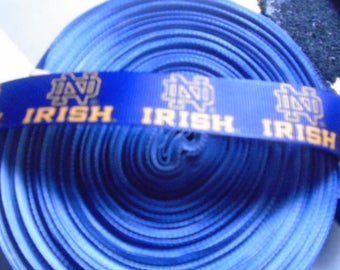 1 yard of 1 Inch Notre Dame Fighting Irish grosgrain ribbon..0.75 a yard