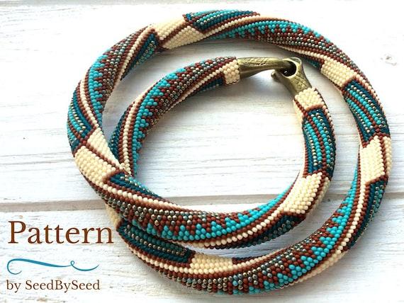 Perle HÄKELMUSTER Aztec Native American Rocailles Perlen | Etsy