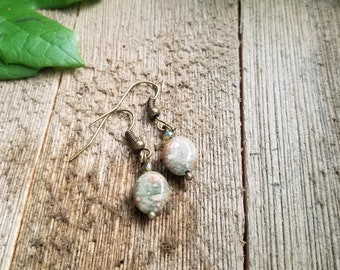 Autumn Jasper Drop Earrings