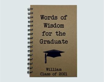Graduation Gift, Words of Wisdom, Graduation Party, Guest Book, Advice, Daughter, Son, Graduate, Graduation, To the Graduate, Class of 2021