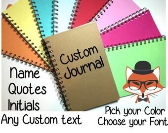 Journal, Bullet Journal, Custom Journal, Custom Notebook, Spiral Journal, Spiral Journal, Notebook, Writing Journal, Custom Gift, Sketchbook