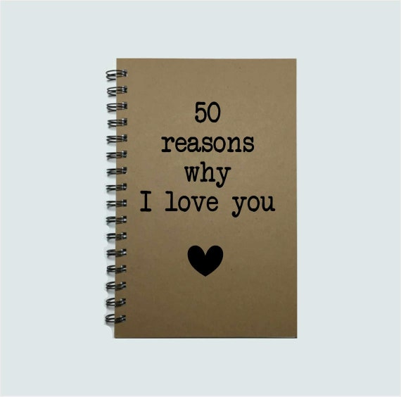 Reasons Why I Love You, Notebook, Love Notes, Journal, Notebook,  Personalized, I love you, Couple Gift, Romantic, Boyfriend, Girlfriend, Mom