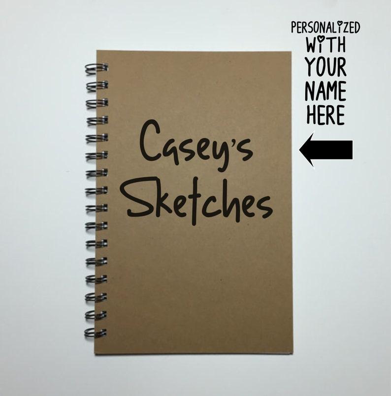 Sketchbook Notebook Sketches Personalized Sketchbook image 0