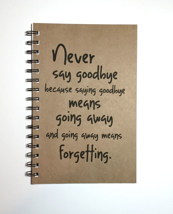 Never Say Goodbye Peter Pan Quote Peter Pan Wendy Peter Etsy