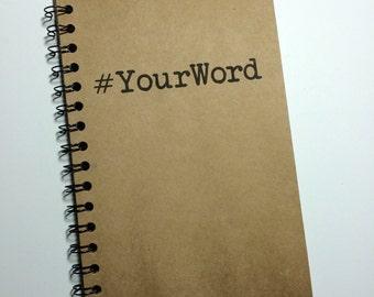Custom Notebook, Personalized, Custom, Custom Journal, #, Hashtag, Journal, Notebook, Custom Gift, gift, Sketchbook, Birthday, Kids, Friends
