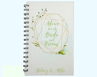 Advice for the Bride and Groom, Book, Wedding, Bridal Shower, Couple, Notebook, Words of Advice, Advice to the Bride, Personalized, Gift
