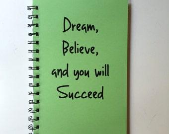 Bullet Journal, Spiral Notebook, Dream, Writing Journal, Notebook, Diary, Motivational Gift, Gift, Sketchbook, personalized, Journal, Spiral