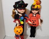 Clown costume or Pumpkin costume for 14 inch dolls 14 inch doll clothes for Wellie Wishers dolls American Girl dolls