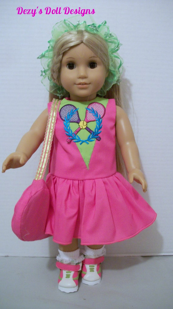 a965d8eea7da8 Tennis Dress Complete Outfit American Girl Dolls 18 inch dolls My Life  Dolls Our Generation Dolls 18 inch dolls clothes 18 inch doll shoes